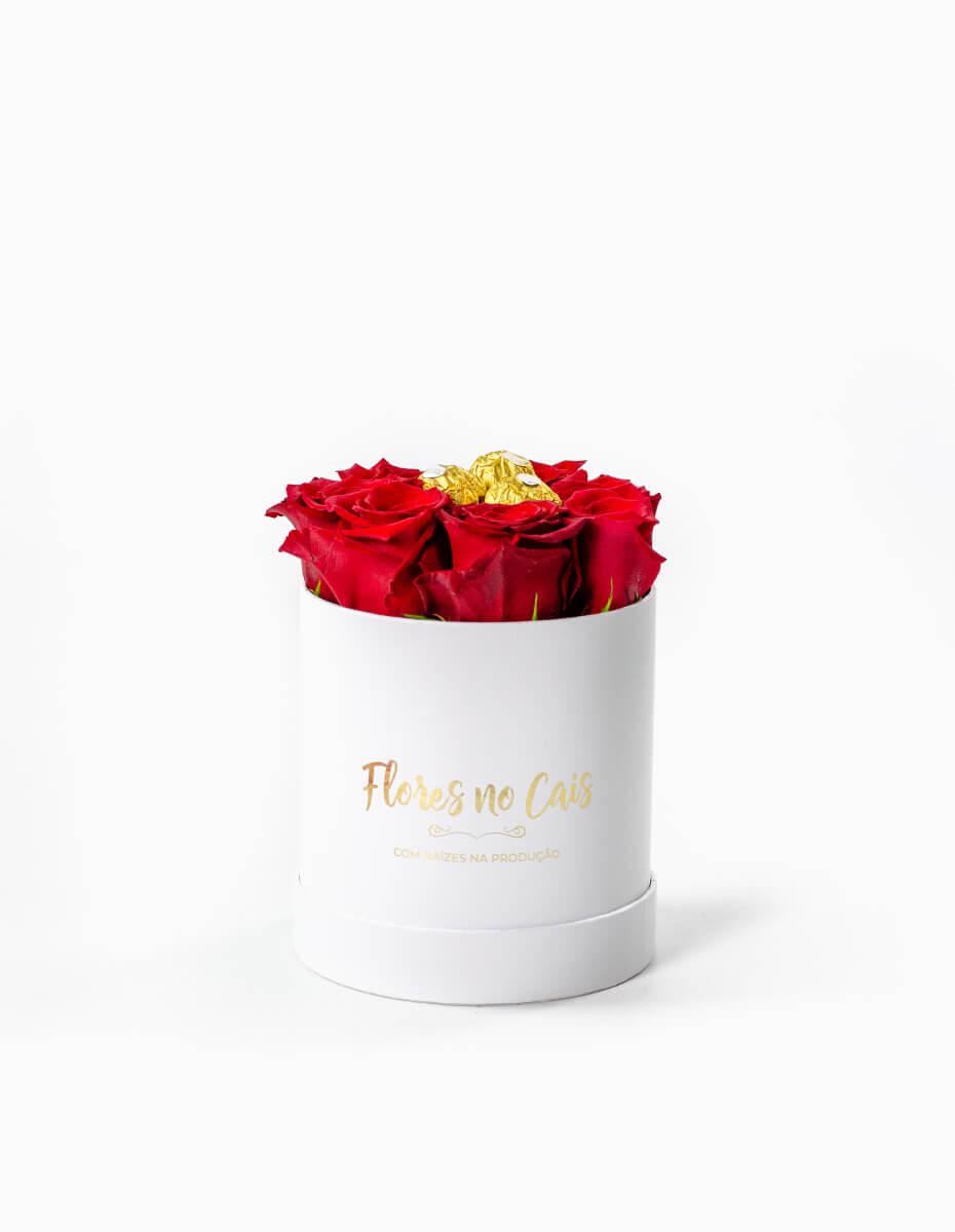Caixa de Rosas com Chocolates